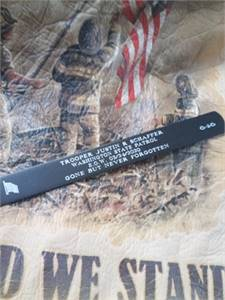 Military Memorabilia: Memorial Bracelets, Hats, Patches  and Pins plus more