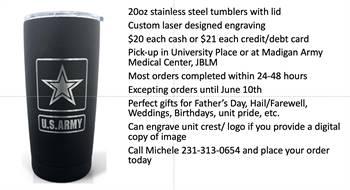 Custom Laser Tumblers/Cups