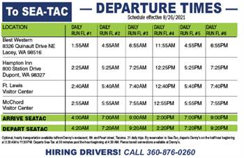 Rides to and from SeaTac International Airport