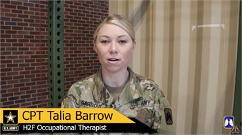 """16th CAB Occupational Therapist, Talia Barrow challenges service members at JBLM to """"Find Time"""" and"""
