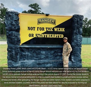 First female with 1st Special Forces Group (Airborne) rejects failure, graduates Ranger School