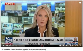Karl Rove says Biden's record low approval rating will continue to drop